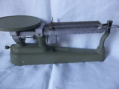 Vintage Triple Beam  Balance Scale 2610 Gram  Decorative Painted Green
