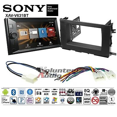 Sony Double Din Media Player Car Radio Install Mount Kit Harness NO CD