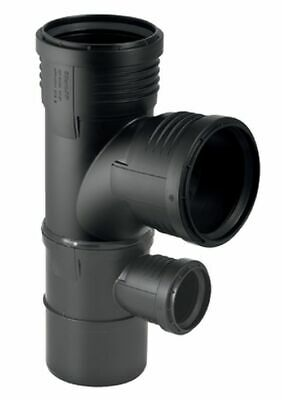 Geberit Silent-PP Combination bow junction 87,5°,parallel,right/left,110/90/75