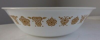 """Corelle Corning Ware Butterfly Gold 8 1/2"""" Vegetable Serving Bowl"""