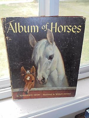Vintage 1965 Album of Horses by Marguerite Henry Childrens Nonfiction HC Book