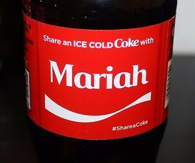 2017 Share a Coke With Mariah 20oz Collectible 08/14/17