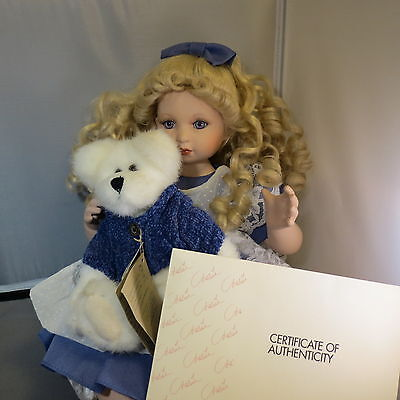"""Marie Osmond Porcelain Doll """"Quite a Pair"""" Beary Best Friends Boyds New with Box"""