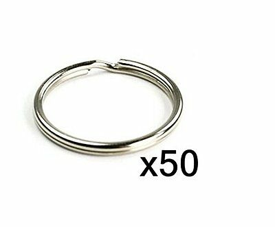 Bluecell 50pcs 25MM Split Key Chain Ring Connector Keychain with Nickel Plated