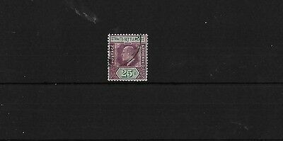 MALAYSIA SG133A, 25c MCA CHALKY PAPER GOOD USED, CAT £45