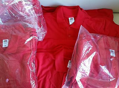 New Joblot wholesale Red Polo shirt Fruit of the Loom x30