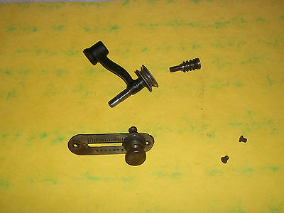 Antique Wheeler & Wilson Sewing Machine W9 Bobbin Winder and Stitch Length Plate