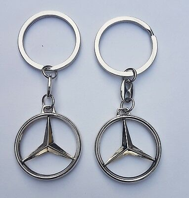 2X 3D Key Chain   Mercedes-Benz A B200  C300 E S500 S600 class AMG 4Matic G S