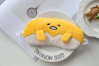 Gudetama Plush Pocket 3D Eye Mask / Sleeping / Kawaii / Cool / Egg / UK SELLER