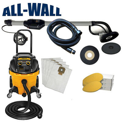 Porter Cable 7800 Drywall Sander with DeWalt HEPA Filter Dust Extractor Vacuum