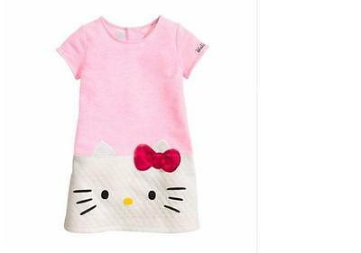 New Girls Clothes hello kitty dress girl Princess Baby Cotton children clothing