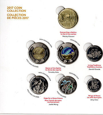➡➡ 🍁🍁 Canada 150 Yrs Celebrations 2017 Special Edition 7 Coins Mint Set 🍁