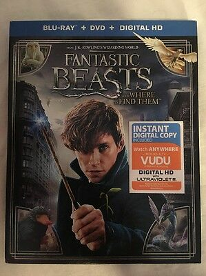 Fantastic Beasts and Where to Find Them (Blu-ray/DVD, 2017, 2-Disc Set) BrandNew