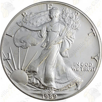 1989 1 oz American Silver Eagle – Brilliant Uncirculated – SKU #1383