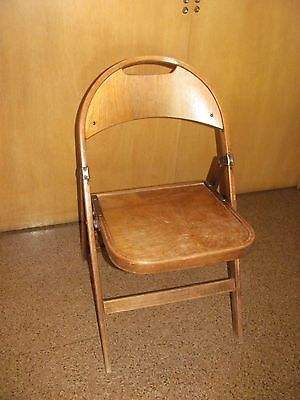 Vintage Bent Wood Folding Chair Unknown Label