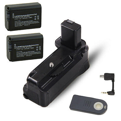 IR Remote Camera Battery Grip Holder For SONY A6000 As BG-3DIR + 2x FW50 Battery
