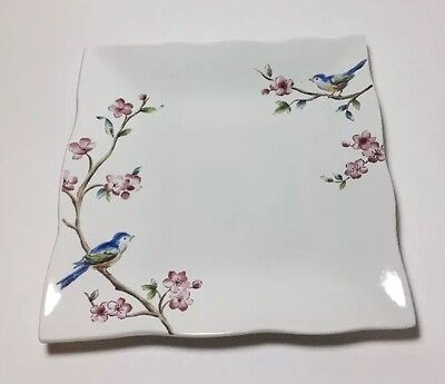 "222 FIFTH FEATHERED FRIENDS SALAD PLATE 8"" Square"