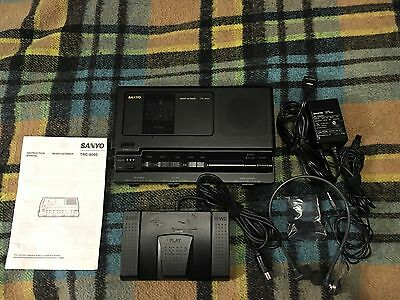 SANYO TRC-8080 Standard Casette DictatingTranscriber with Foot Pedal