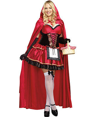 New Dreamgirl 9477X Plus Size Little Red Riding Hood Halloween Costume