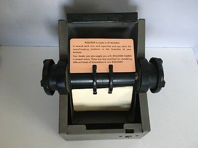 Vintage Rolodex Model No. 2254D Gray!  Heavy!
