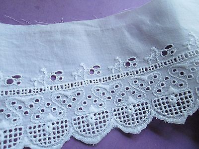 Antique/Vintage Eyelet lace white cotton/.for dolls Austria