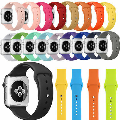 NEW Replacement Silicone Wrist Sport Band Strap For Apple Watch 38/42MM