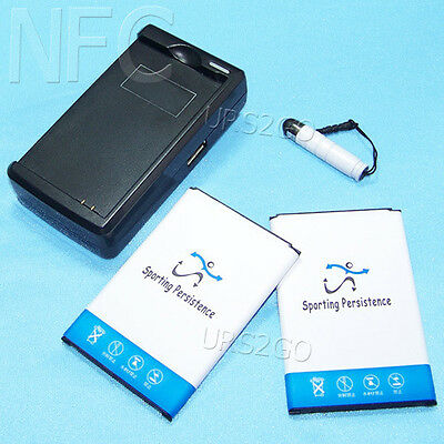 New 2x 5370mAh NFC Battery Extra Charger Pen for Samsung Galaxy Note 3 III N900T