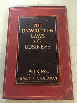 the unwritten laws of business 14012015  in the same vein as rick reilly's 1995 article entitled unwritten rules (in sports), i realized recently that there are also unwritten rules for business.