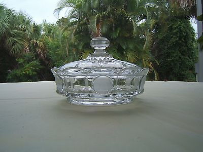 Fostoria Coin Candy Dish With Lid Clear Glass  Free S & H