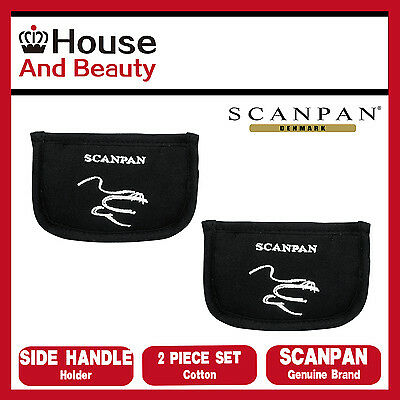 NEW Scanpan Side Handle Holders Set of 2 Black, 100% Cotton