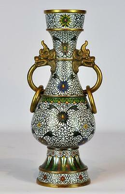 Antique Chinese Cloisonne Vase with Marks Lot 255
