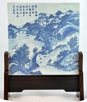 Chinese Porcelain Tile with Stand Lot 89