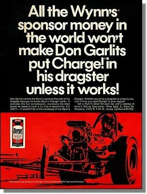 1968 Wynn's Charge - Don Garlits Race Dragster Print-Ad