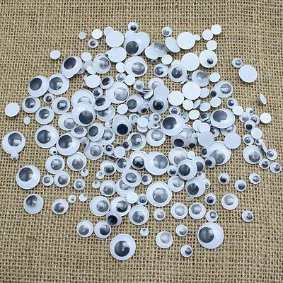 Brand New 200 X Mixed Wibbly Wobbly Googly Eyes. Crafts, Not Self-Adhesive