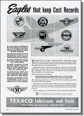 1941 Airline Logos - The American Eagles - Texaco Ad