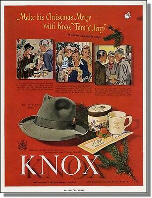 1947 The Knox Tom 'n Jerry Hat for Men Christmas Ad