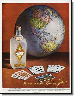 1948 All Over The World - That's Gin! - Gilbey's Ad
