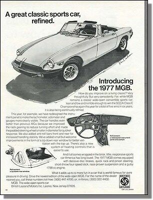 1977 MGB Sports Car - A Refined Classic - Print-Ad