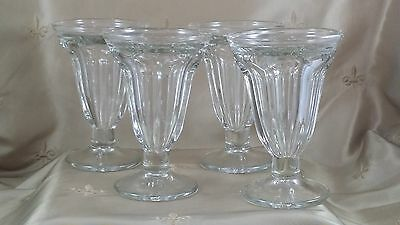 VINTAGE Soda Fountain PARFAIT GLASS 6 Ounce LOT of 4 LIBBEY GLASS