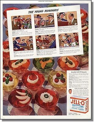 1939 The Young Runaways - Jell-O Desert Print-Ad