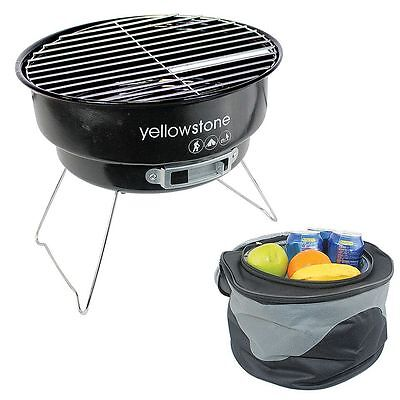 Yellowstone Folding BBQ with Cooler Bag Perfect For Camping /Festival/Picnic