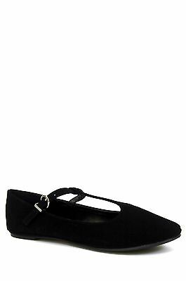 50acc8826d2 City Classified Laura-s Women s Basic Black Nubuck Mary Jane T-Strap Ballet  Flat