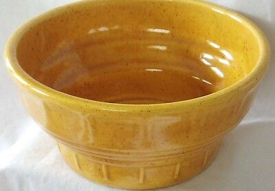 Vintage Mid Century Yellow Gold Speckle Haeger Pottery Bowl Planter Vase 33 USA