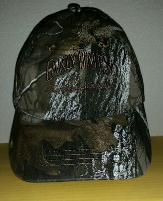 Nice Embroidered  EARLY TIMES KENTUCKY WHISKEY Camo Ball Cap Hat back Strap