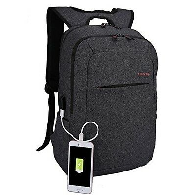 Laptop Backpack with USB port charger bag men women for work school college 2017
