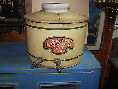 Antique Vintage LASHS Soda & Syrup Drug Store Fountain Dispenser Orangeade