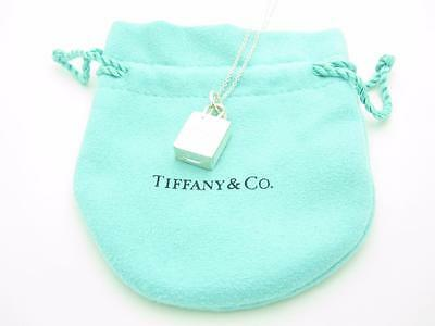 44d2ed05a Tiffany & Co. Italy Sterling Silver Shopping Bag Charm Pendant Necklace ...