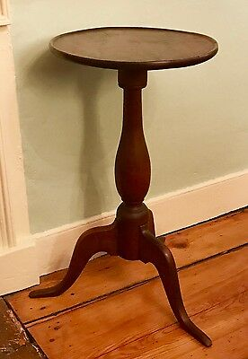 Queen Anne Cherry Candlestand, New England, 18th Century