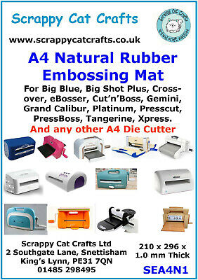 A4 Embossing Mat for Big Shot Plus and Any Other A4 Die Cutter : SEA4N1  3