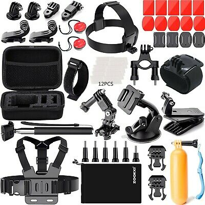 Zookki Accessories Kit for GoPro Hero 5 4 3+ 3 2 1 Black Silver SJ4000 SJ5000 SJ